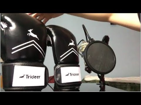 TRIDEER PRO GRADE BOXING GLOVES (CHEAP) REVIEW & UNBOXING