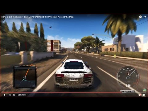 HOW BIG IS THE MAP in Test Drive Unlimited 2 (Map: Ibiza)? Drive Across the Map Fast