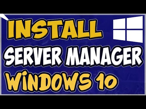 How To Install Server Manager In Windows 10 1809 - 2020