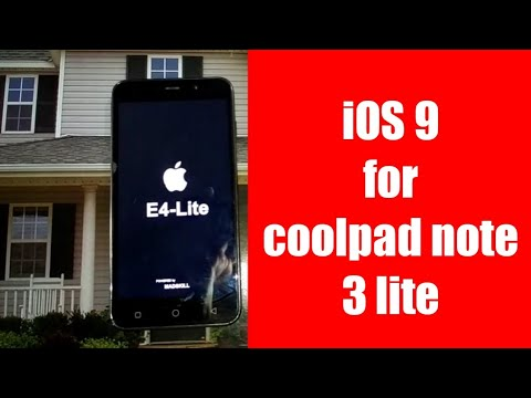 IOS 9 for coolpad note 3 lite ( full installation )