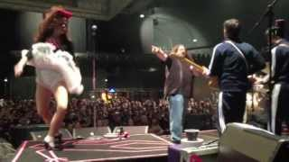 EELS SINGER PUNCHED ONSTAGE BY ANGRY CLOWN