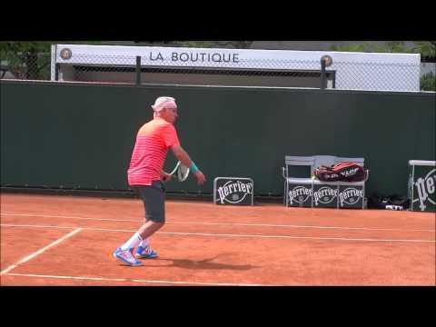 John McEnroe practising