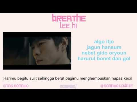 LEE HI - BREATHE [MV & EASY LYRIC ROM+INDO]