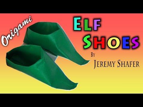 Origami Elf Shoes