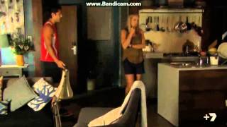 Home and Away - Andy finds out Hunter Burnt down Leah