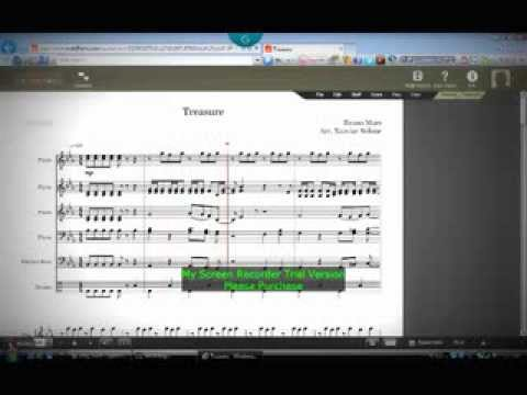 Sheet Music/ Treasure By: Bruno Mars