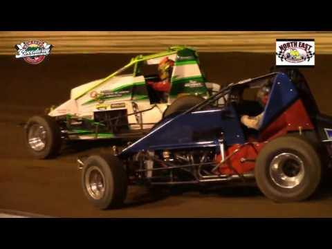 North East Wingless Sprint Cars at New Egypt Speedway 6/9/16