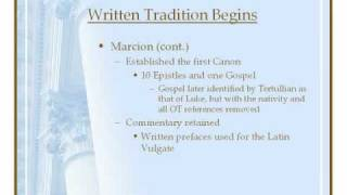 The History Of The Biblical Canon (3)