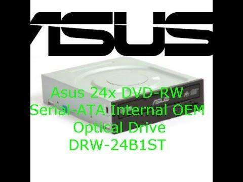 Asus 24x DVD-RW Serial-ATA Internal OEM Optical Drive DRW-24B1ST unboxing