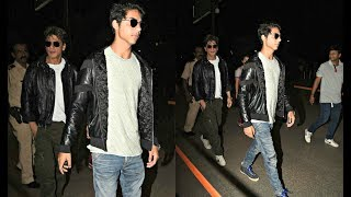 Shahrukh Khan And Son Aryan Twinning In Black Leather