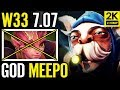 w33 Meepo vs New 7.07 Hero - 1 vs ALLLLLLLLLL META Dota 2