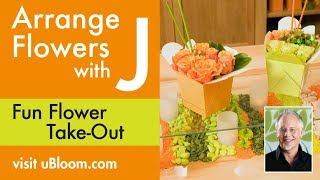 How To Arrange Flowers- Take-out Dinner Table Arrangements!