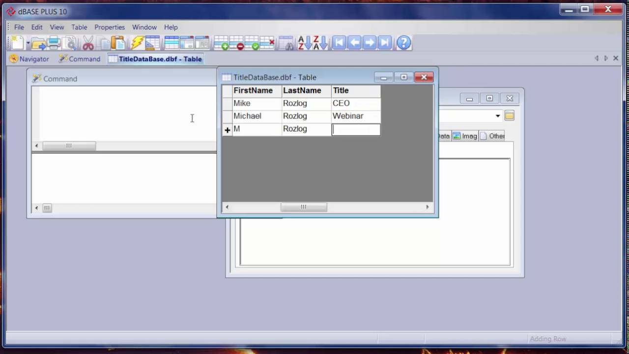 dBASE PLUS 10 Creating and Using Databases - YouTube