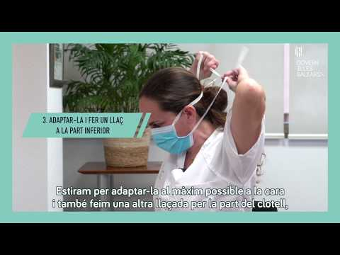 Consejos del Govern Balear para el uso correcto de las mascarillas