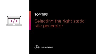 Selecting the best static site generator for your blog   Pluralsight