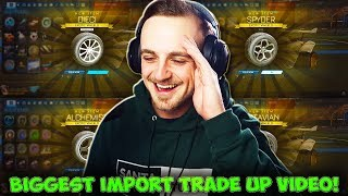 MY BIGGEST IMPORT DROP TRADE UP VIDEO IN ROCKET LEAGUE!