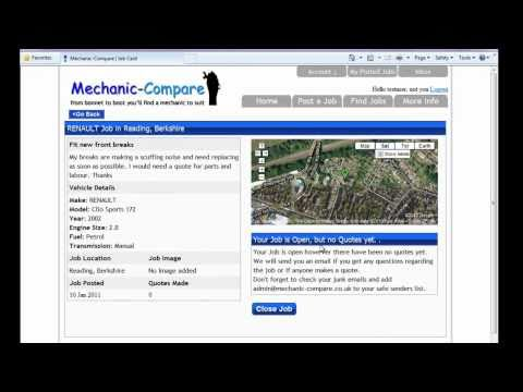 How to post a Mechanic Job at Mechanic-Compare