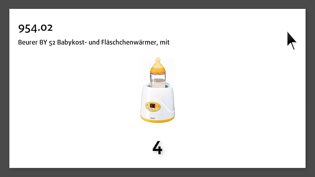 Beurer BY 52 Babykost /& Flaschenwärmer für Baby Flaschen mit Warmhaltefunktion