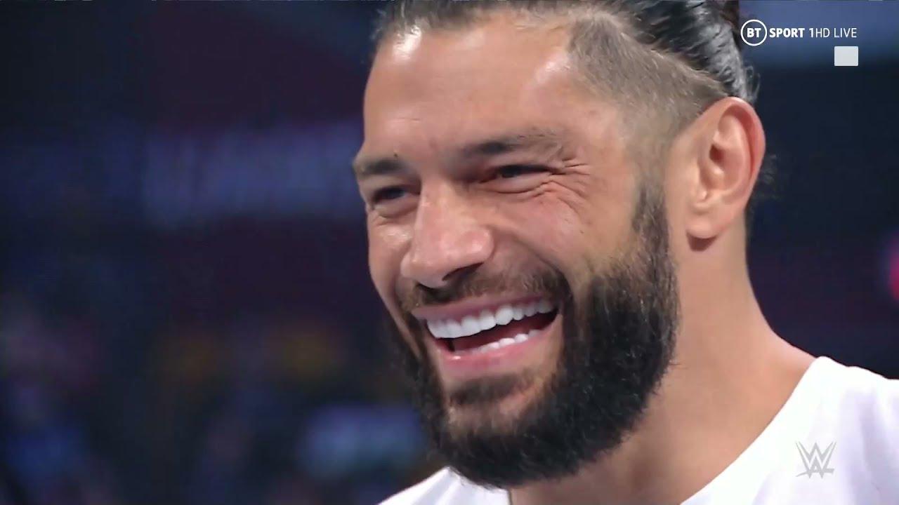 Roman Reigns responds to John Cena's SummerSlam challenge but is interrupted by Finn Balor