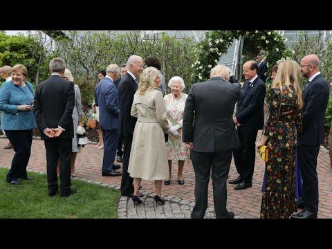President Joe Biden meets Queen Elizabeth II during G7 dinner