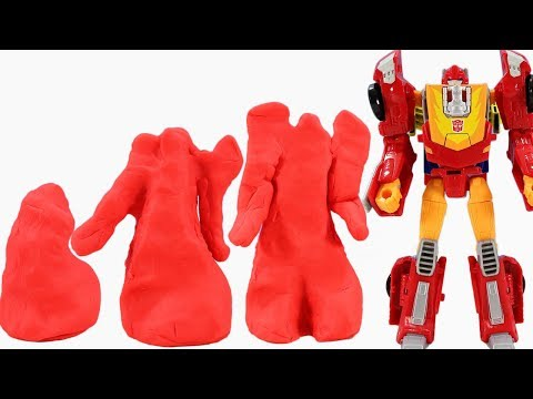 Transformers Magic From Living Play Doh! Bumblebee Blur Hot Rod Comes Alive!