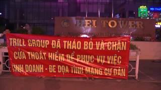 VTC14   Hà Nội: Cư dân chung cư Hei Tower biểu tình phản đối sai phạm trong phòng cháy