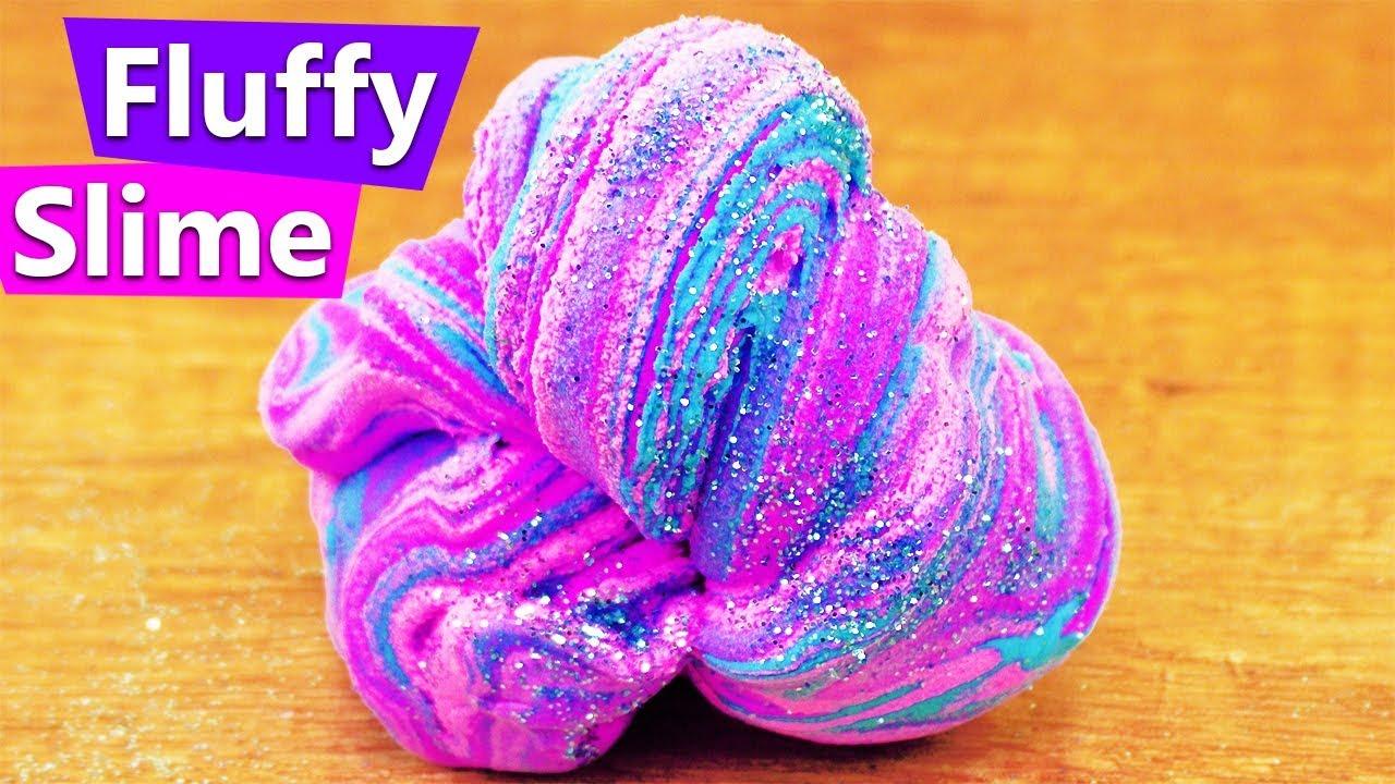diy glitzer fluffy slime flummi glitzer knete selber machen diy idee mit fluffy schleim
