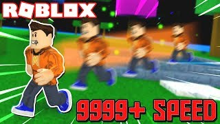 *9999+ SPEED* BECOMING THE FASTEST MAN in ROBLOX! (Roblox Speed Simulator)