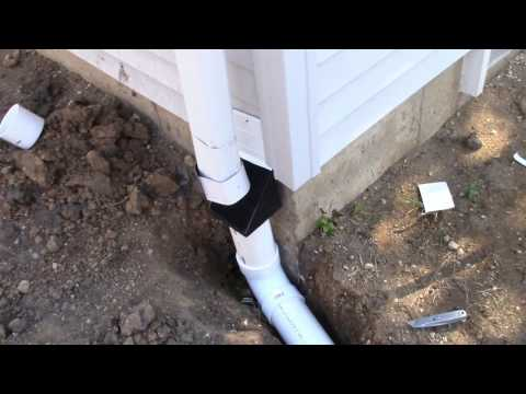 Underground Downspout With Leaf Diffuser
