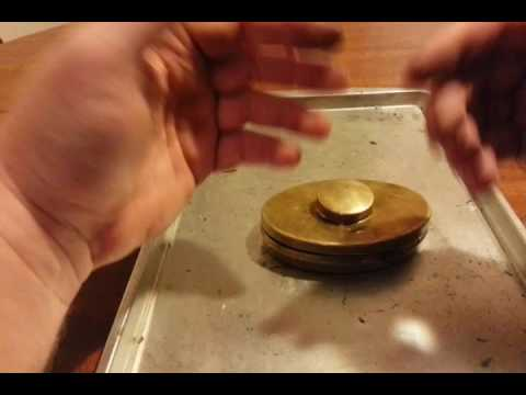 Hudson Bay tin cap demonstration