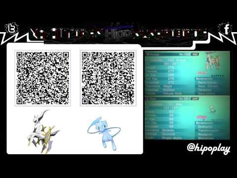 Terminado Code Qr Arceus Amp Mew Chiny Pokemon Xy Oras