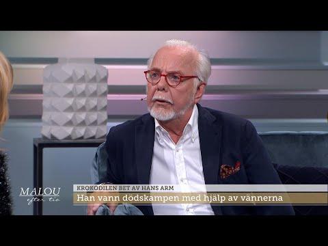 Krokodilen bet av hans arm:  Jag knner mina fingrar, jag rr p dem nu - Malou Efter tio (TV4)