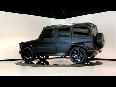 2010 matte black mercedes benz g55 youtube for Mercedes benz jeep matte black
