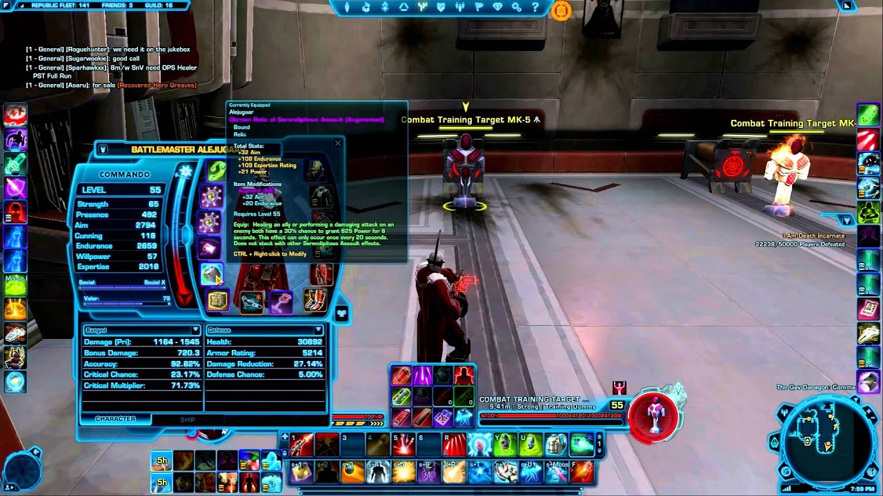 SWTOR - Commando PVP Builds and Gear Patch 2.6 - YouTube