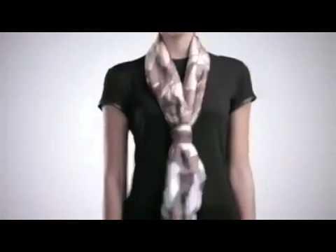 Cách thắt khăn quàng cổ thật điệu nghệ