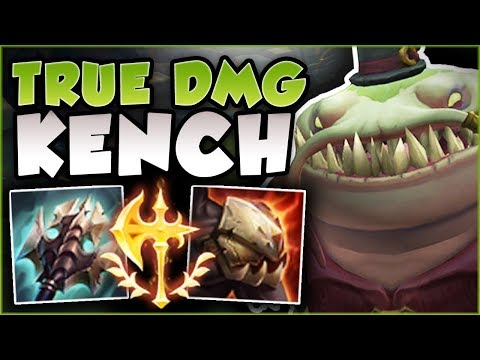 FEAR THE LICK! TRUE DMG KENCH IS 100% DEADLY! TAHM KENCH SEASON 8 TOP GAMEPLAY! - League of Legends