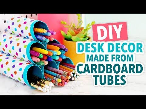DIY Desk Decor Made From Cardboard Tubes! - HGTV Handmade