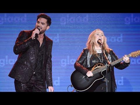 Melissa Etheridge and Adam Lambert perform