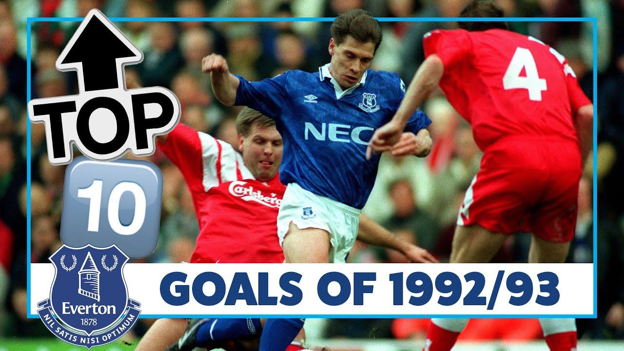 TOP 10: BEST EVERTON GOALS 1992/93