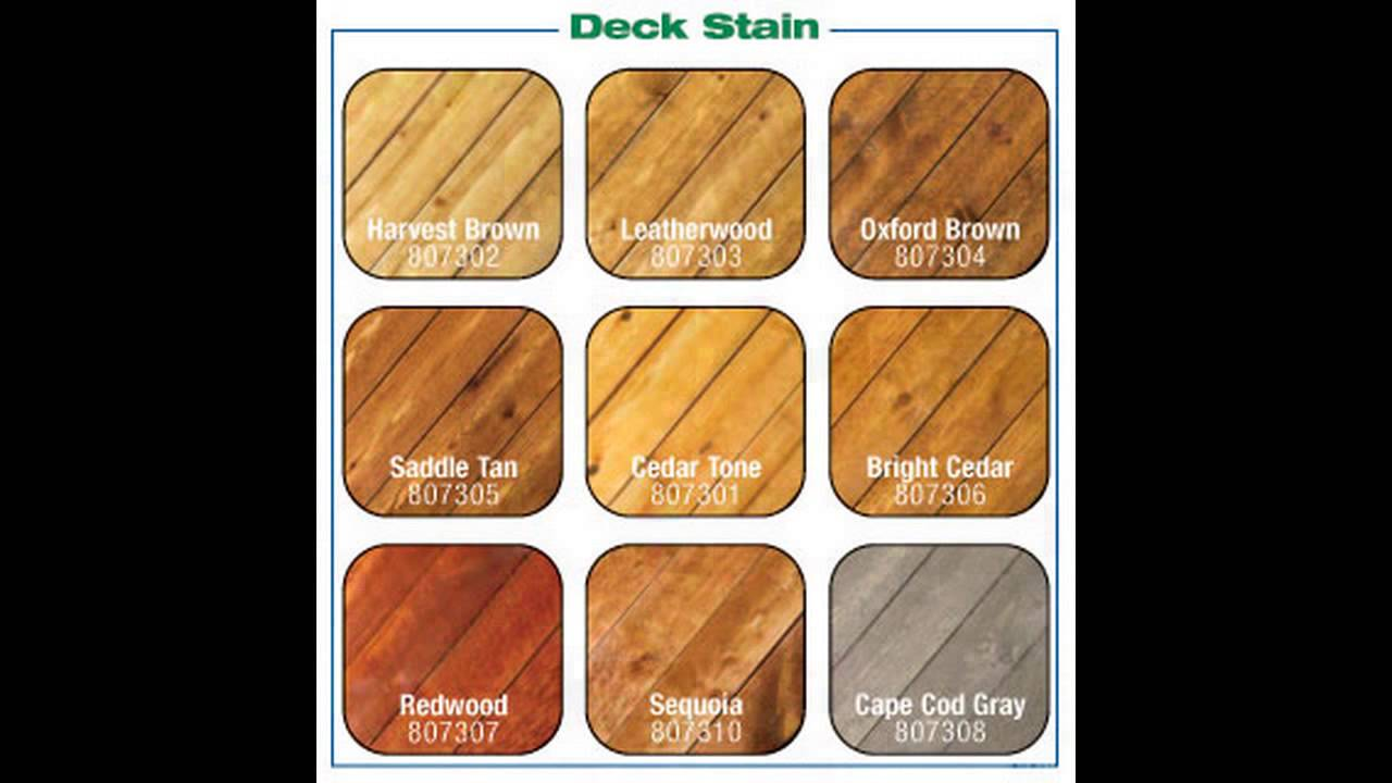 Outdoor Wood Stain Colors Youtube