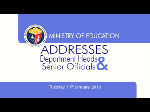 Ministry of Education Addresses Department Heads and Senior Officials