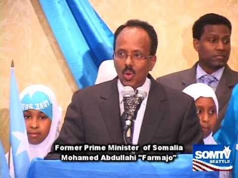 "Former Prime Minister of Somalia Mohamed Abdullahi ""Farmajo"" Seattle, WA USA"