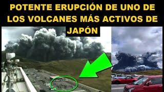 Potente erupción uno de los volcanes más activos de Japón 20 octubre 2021