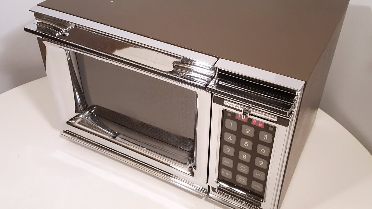 1977 amana radarange touchmatic microwave oven