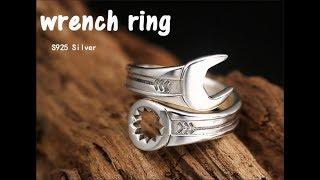 мужское серебряное кольцо с Алиэкспресс, изменяющийся размер