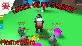 Runs fast-Magnet Sim-English Roblox