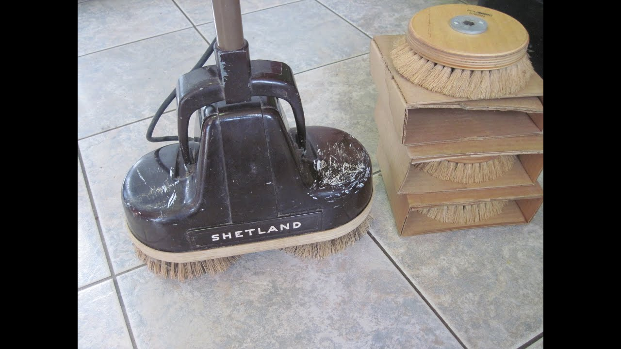 How to clean floors with an old shetland floor buffer for Floor polisher