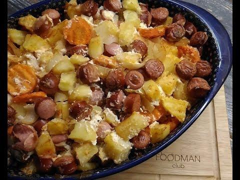 Жаркое с колбасками в духовке: рецепт от Foodman.club