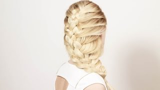 Как превратить косичку в прическу. How to turn a braid to hairstyle