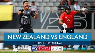 England beat New Zealand in Super Over to win series! | New Zealand vs England 5th T20I Highlights
